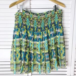 Joe Fresh flirty boho pleated skirt